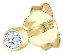 Ohrringe Single Stecker Diamant (0.03ct) Basic 375 Gelbgold