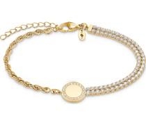 -Armband Edelstahl 82 Zirkonia Gold 32013455