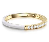 Ring Sterling Silber Zirkonia gelbgold Silberring