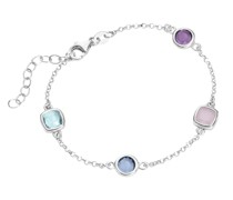 Armband bunte Steine, Silber 925