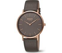 Boccia-Uhren Analog Quarz Grau 32013697