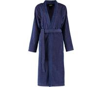 Bademantel Kimono Hoch-Tief-Velours 6126 blau-beere - 18