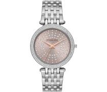 -Uhren Rund Analog Quarz Silber Silber Edelstahl 32010161
