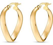 Gold-Creolen 375er Gelbgold One Size 87280373