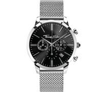 -Uhren Analog Quarz Silber, Schwarz 32002321