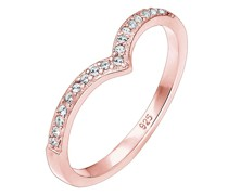 Ring V-Form Geo Swarovski® Kristall 925 Sterling Silber