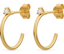 -Ohrstecker 375er Gelbgold 2 Diamant One Size 87728455