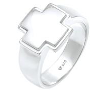 Ring Siegelring Bandring Kreuz 925 Silber