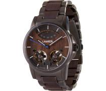 -Uhren Analog Automatik Nussholz Holz 32015178