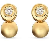 -Ohrstecker 375er Gelbgold 2 Diamant One Size 87495523