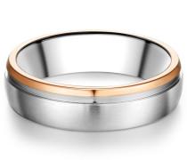 Ring Edelstahl silber/roségold