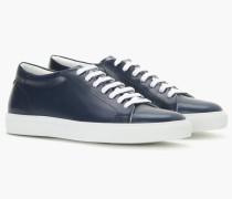 Leder Sneaker indigo blue