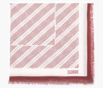 Tuch aus Baumwolle und Lyocell plum