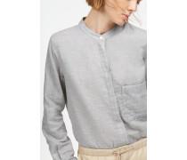 Bluse aus Doubleface light grey melange