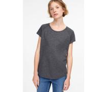 T-Shirt aus softem Melange Jersey dark grey melange