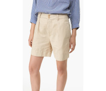 Shorts aus Leinen Mix chino beige