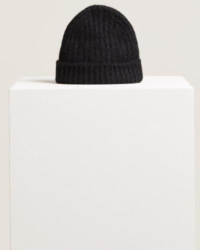 Strickmütze aus Royal Baby Alpaka Mix black