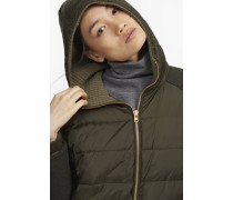 Parka aus Materialmix Highland shadow green
