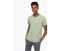 T-Shirt aus Melange Jersey vintage green