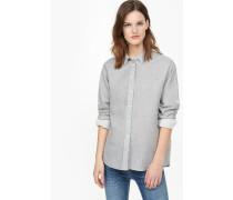 Hemdbluse aus Doubleface light grey melange