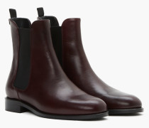 Boots aus Leder red wine
