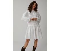 Besticktes Kleid aus Popeline