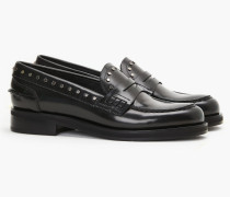 Loafers mit Nieten midnight green