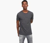 T-Shirt aus Melange Jersey dark grey melange