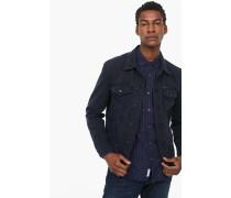 Jeansjacke aus Coloured Denim navy