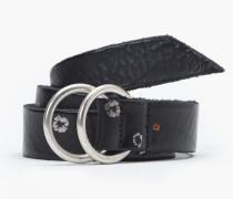 Ledergürtel mit Print black