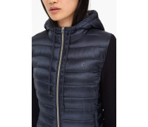 Steppjacke mit Strickärmeln Wood navy