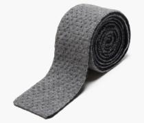 Strickkrawatte Uni grey heather melange