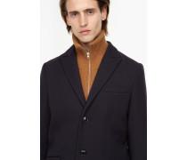 Klassischer Mantel aus Schurwolle navy