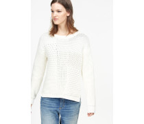 Baumwoll Pullover blanched almond