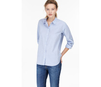 Baumwoll Chambray Bluse light sky