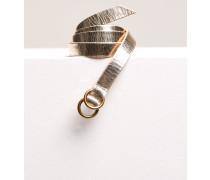 Ledergürtel in Metallic Optik silver gold