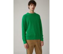 Sweater aus italienischem Baumwollgarn bright green