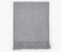 Strickschal aus Woll-Mix grey dust melange
