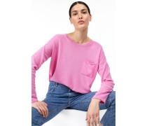 Rundhalspullover aus reinem Kaschmir flamingo pink