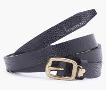 Schmaler Ledergürtel black