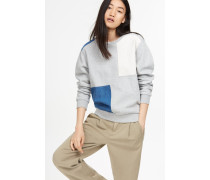 Patchwork Sweatshirt light grey melange