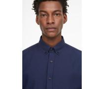Hemd aus zweifarbigem Pikee ink