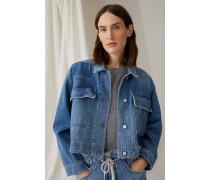 Denim Patchwork Jacket mid blue