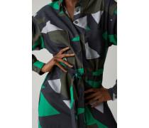 Hemdblusenkleid mit grafischem Print