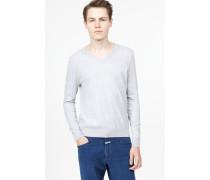 Leichter Baumwoll Pullover light grey melange