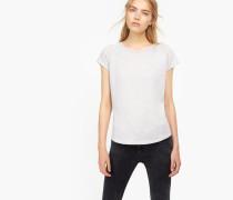 T-Shirt aus softem Melange Jersey lilac grey