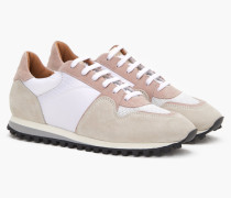 Runner aus Materialmix blush