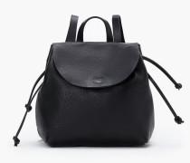 Rucksack aus Leder black