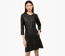 Kleid aus Lammleder black