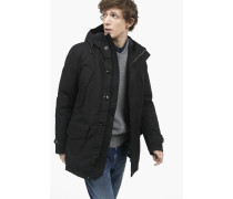 Winterparka aus Canvas black